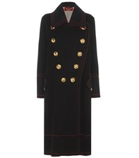 Burberry London England Wool And Cashmere Coat Black
