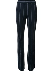 Derek Lam 10 Crosby Pinstripe Flared Trousers Black