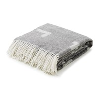 Skagerak Iota Alpaca And Merino Wool Blanket Light Grey