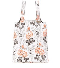Victoria Beckham Large Tank Top Printed Leather Shopper White
