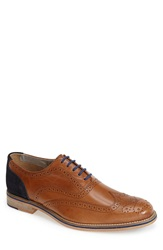 J Shoes 'Chuck 2' Leather And Suede Wingtip Men Tan Navy