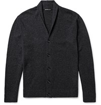 James Perse Shawl Collar Cashmere Cardigan Charcoal