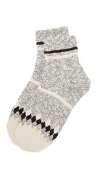 Madewell Striped Camp Ankle Mid Socks Grey