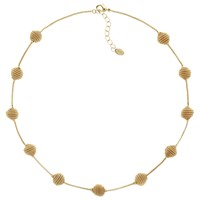 Monet Spiral Ball Collar Necklace Gold