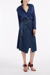 Sea Denim Wrap Skirt