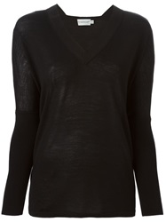 Moncler Lightweight V Neck Sweater Black