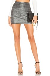 Bailey 44 Winning Streak Mini Skirt Metallic Silver
