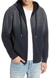 Treasure And Bond Ombre French Terry Zip Hoodie Black Rock