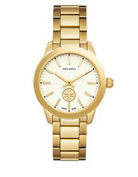 Tory Burch Collins Round Band Analog Watch Gold