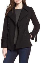 Bailey 44 Tie Cuff Ponte Peacoat Black