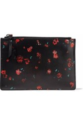Iro Floral Print Leather Pouch Black