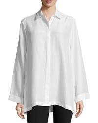Joseph Olly Button Front Silk Oversized Blouse Off White Offwhite