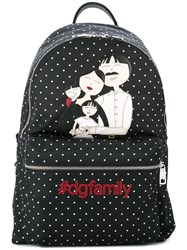 Dolce And Gabbana Volcano Dg Family Patch Backpack Black