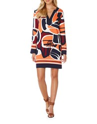Laundry By Shelli Segal Printed Pullover Tunic Midnight