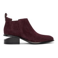 Alexander Wang Purple Suede Kori Ankle Boots