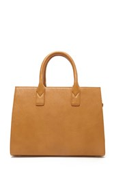 Forever 21 Faux Leather Satchel Tan
