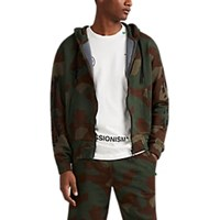 Off White C O Virgil Abloh Logo Camouflage Cotton Terry Hoodie Black