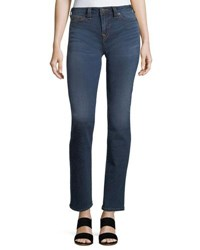 True Religion Billie Mid Rise Straight Leg Jeans Blue