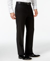 Tommy Hilfiger Black Classic Fit Tuxedo Pants