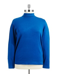 Joseph A Plus Mock Turtleneck Sweater Super Blue