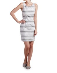 Paper Crown Audrey Sleeveless Sheath Striped Dress Bold Sage