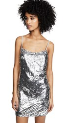 Fame And Partners Sequined Mini Dress Silver