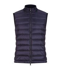Hackett Knitted Back Gilet Male Navy