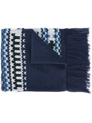 Ganryu Comme Des Garcons Knitted Scarf Blue