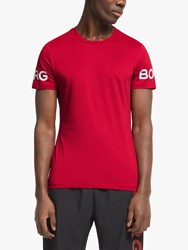 Bjorn Borg Short Sleeve Training Top Jester Red
