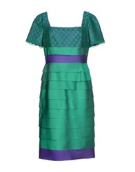 Cailan'd Knee Length Dresses Emerald Green