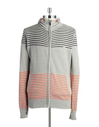 Bench Cotton Zip Up Sweater Grey