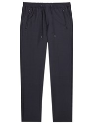 Reiss Maire Drawstring Tailored Trousers Navy