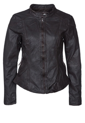Tom Tailor Leather Jacket Nutshell Brown