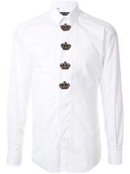 Dolce And Gabbana Crown Patches Slim Fit Shirt 60