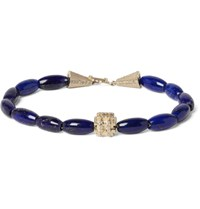 Luis Morais Lapis Gold And Diamond Bracelet Blue