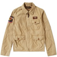 Polo Ralph Lauren Vintage Us Flight Jacket Brown