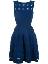 Azzedine Alaia Flared Dress Blue