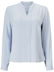 Eastex Stand Collar Blouse Blue