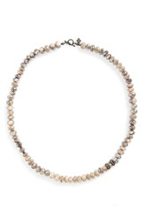 Armenta Women's Old World Mystic Bead And Diamond Collar Necklace