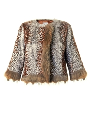 Red Valentino Leopard Print Fur Jacket