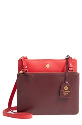 Lodis Downtown Latisha Rfid Leather Crossbody Red Red Chianti