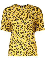 G.V.G.V. Leopard Print T Shirt Yellow Orange