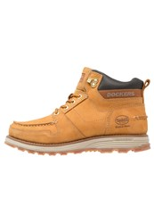 Dockers By Gerli Laceup Boots Golden Tan Light Brown