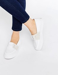 Fred Perry Bette Canvas Slip On Trainers White