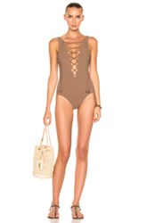 Karla Colletto Entwined Swimsuit In Brown Neutrals Brown Neutrals