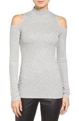 Trouve Women's Cold Shoulder Sweater Grey Heather