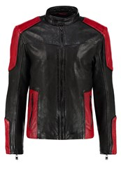 Gipsy Leather Jacket Black Red