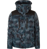 Moncler Grenoble Rodenberg Padded Camouflage Print Shell Jacket Navy