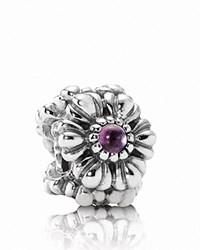 Pandora Design Pandora Charm Sterling Silver And Amethyst Birthday Blooms February Moments Collection