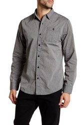 Burnside Tangled Long Sleeve Regular Fit Shirt Gray